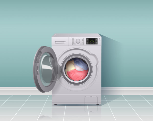 washing-machine-realistic-composition-with-housework-equipment-symbols-illustration_1284-29129